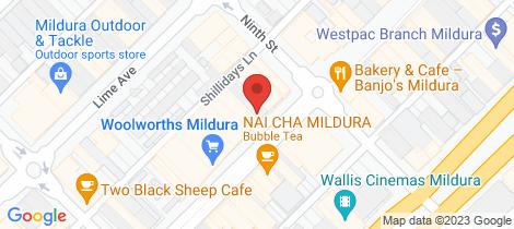 Location map for 1st Floor/91 Langtree Avenue Mildura