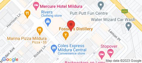 Location map for Suite 3 & 4 110-114 Eighth Street Mildura