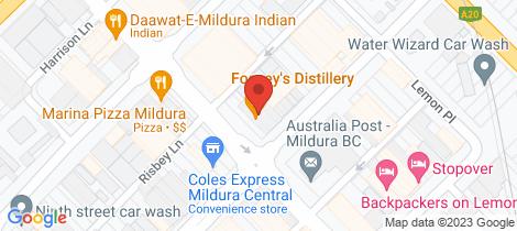 Location map for IO3/110-114 Eighth Street Mildura