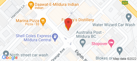 Location map for T1 Office 1&2 110-114 Eighth Street Mildura