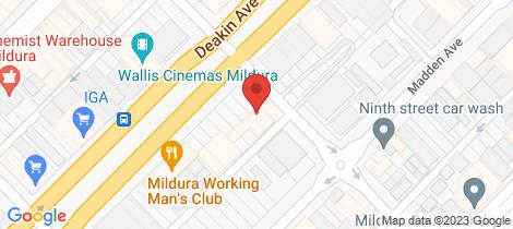 Location map for Tenancy 3/86-88 Deakin Avenue Mildura