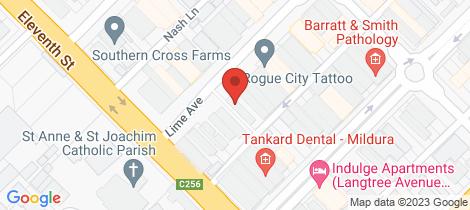 Location map for 152 Lime Avenue Mildura