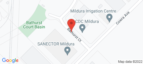 Location map for 6 and 7 Bathurst Court Mildura