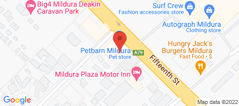 Location map for 7/840 Fifteenth Street Mildura