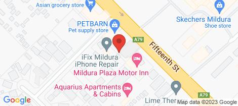 Location map for 2/840 Fifteenth Street Mildura