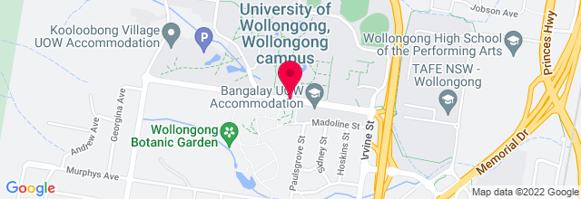 Map for Wollongong Uni Bar