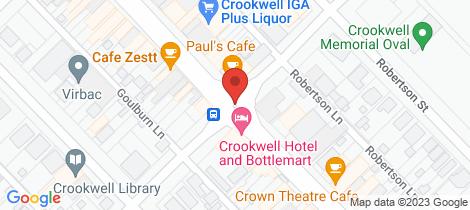 Location map for 8 Barber Street Goulburn