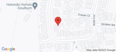 Location map for 57 Kidd Circuit Goulburn