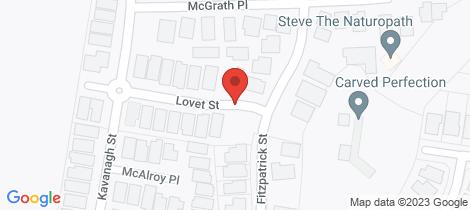 Location map for 14 Lovet Street Goulburn