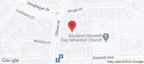 Location map for 16/95 Gibson Street Goulburn
