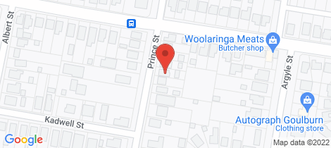 Location map for 43 Prince Street Goulburn