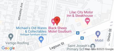 Location map for 7 Joshua Street Goulburn