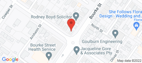 Location map for 75- Bradley Street Goulburn