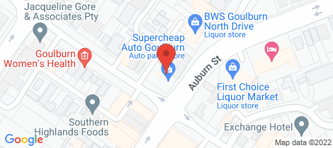 Location map for 410 Auburn Street Goulburn