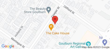 Location map for 167 Cowper Street Goulburn