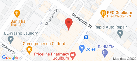 Location map for 316 Auburn Street Goulburn