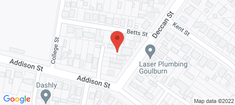 Location map for 10 Deccan Street Goulburn
