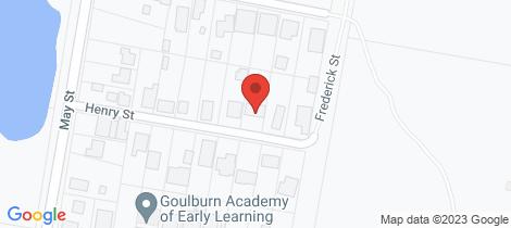 Location map for 12 Henry Street Goulburn