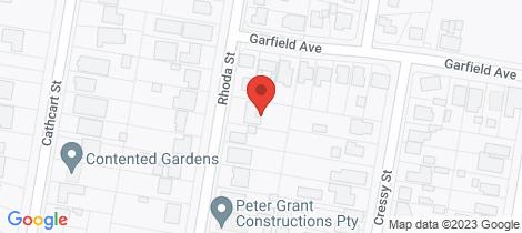 Location map for 17 Rhoda Street Goulburn