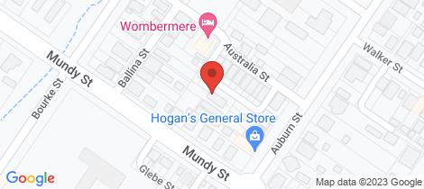 Location map for 1 Farquhar Street Goulburn