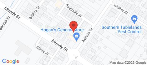 Location map for 34 Auburn Street Goulburn Goulburn