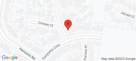Location map for 12 Gunyuma Crescent North Nowra
