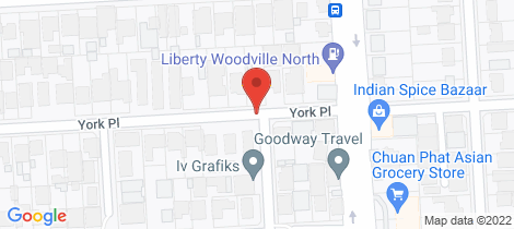 Location map for 4 York Place Woodville North