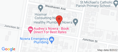 Location map for 13A Junction Street Nowra
