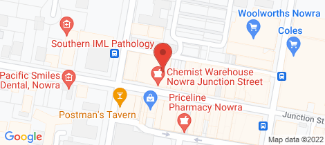 Location map for 83-87 Junction Street Nowra