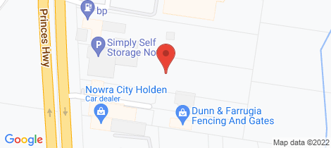 Location map for 206 Princes Highway South Nowra