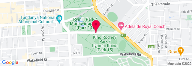 Map for Rymill Park