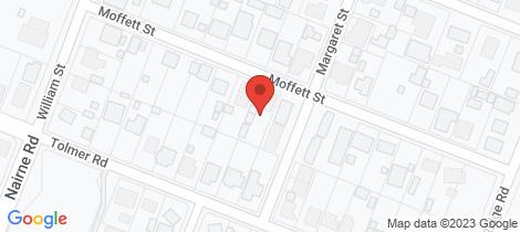 Location map for 48 Moffett Street Woodside
