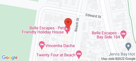 Location map for 21 Beach Street Vincentia
