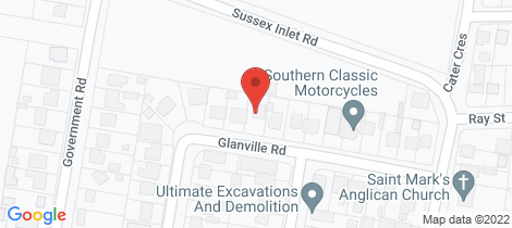 Location map for 19 Glanville Rd Sussex Inlet