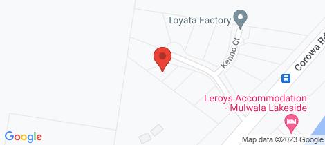 Location map for 3B Amaroo Court Mulwala