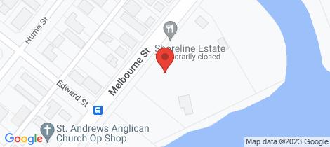 Location map for 2 Shoreline Estate, Melbourne Road Mulwala
