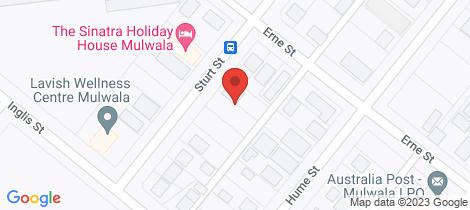 Location map for 76 Sturt Street Mulwala