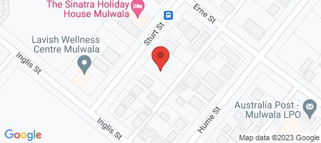 Location map for 78 Sturt Street Mulwala