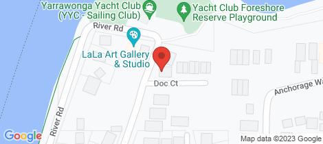 Location map for 1 Doc Court Yarrawonga