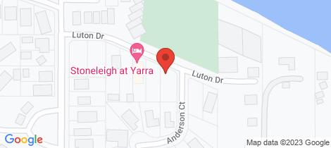 Location map for 13 Luton Drive Yarrawonga