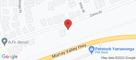 Location map for 71 Zorro Drive Yarrawonga