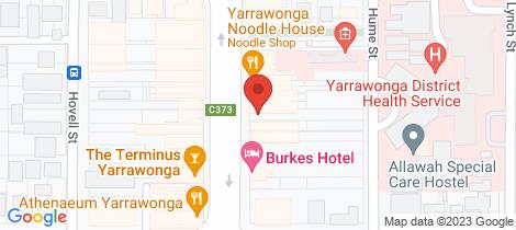 Location map for 84 Belmore st Yarrawonga