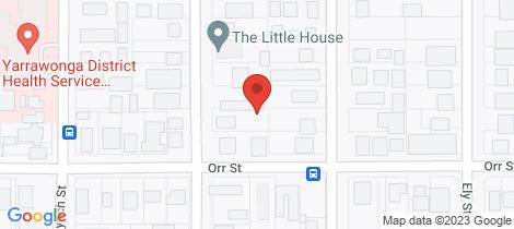 Location map for 1/50 Murphy Street Yarrawonga