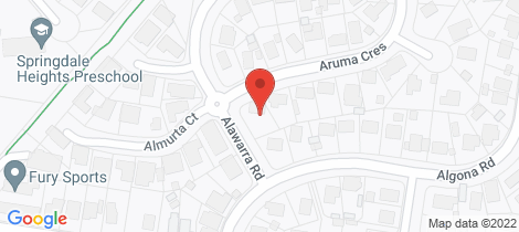 Location map for 6 Aruma Crescent Springdale Heights