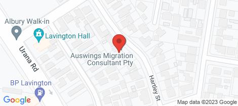 Location map for 489 Hartley Street Lavington
