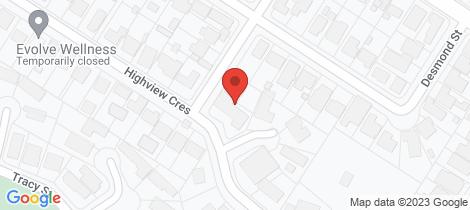 Location map for 276 Highview Crescent Lavington