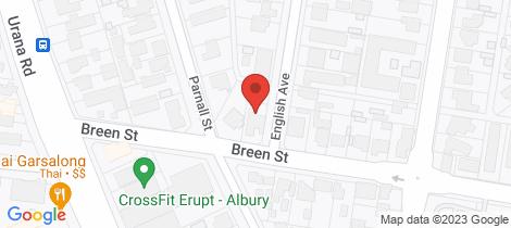 Location map for 520 Breen Street Lavington