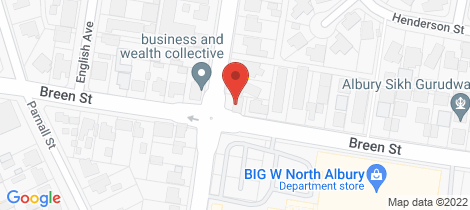 Location map for 378 Prune Street Lavington