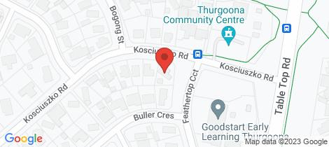 Location map for 23 Kosciuszko Road Thurgoona