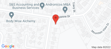 Location map for 287 Cheyenne Drive Lavington